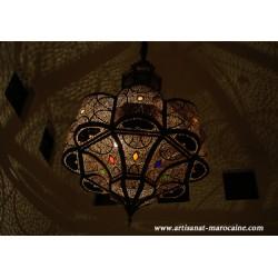 Grande lampe en cuivre