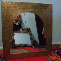 Miroir carré en cuivre