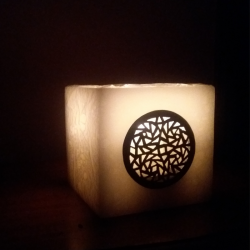 Candle in natural wax